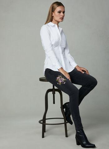 Grace in LA - Floral Embroidered Jeans, Black, hi-res