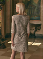 Eliza J - Lace and Sequin Dress, Off White