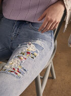 Joseph Ribkoff - Embroidered Slim Leg Jeans, Blue