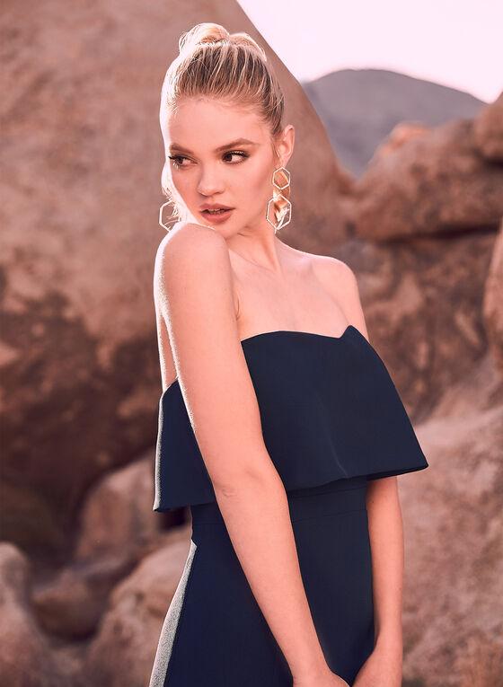 BA Nites - Robe sirène en crêpe et épaules dénudées, Bleu, hi-res