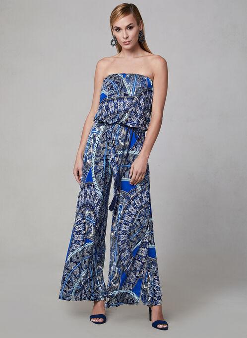 Combinaison à motif cachemire, Bleu, hi-res