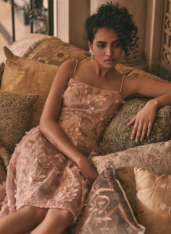 BA Nites - High-Low Chiffon Dress , Pink