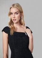 Glitter Fit & Flare Dress, Black
