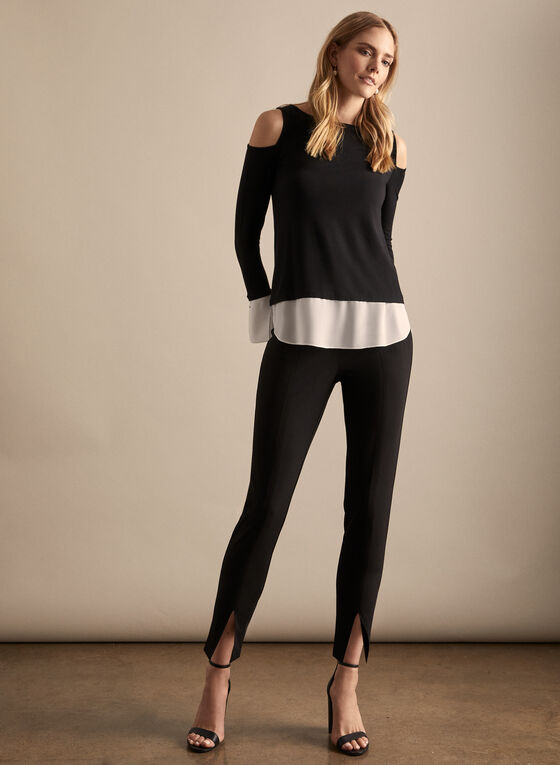 Boat Neck Fooler Top, Black