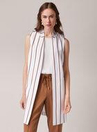 Open Front Sleeveless Jacket, White