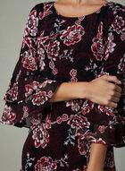 Sandra Darren - Robe fleurie à manches volantées, Rouge, hi-res