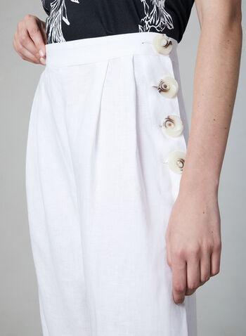 Vince Camuto - Linen Culottes, White,  linen, wide leg, online exclusive, culotte, summer 2019