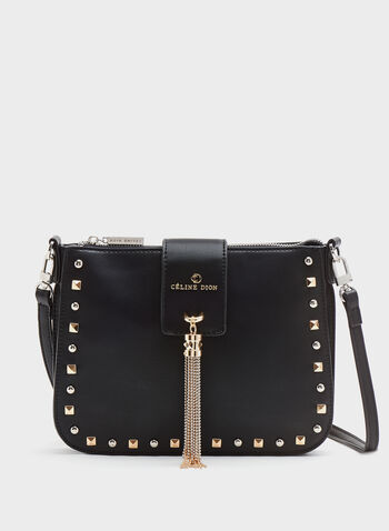 Céline Dion - Small Studded Faux-Leather Purse, Black, hi-res