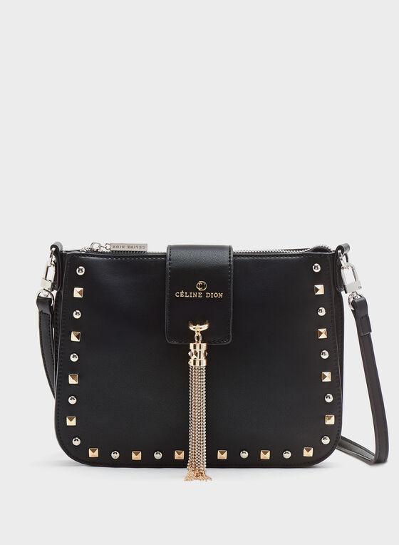 Céline Dion - Small Studded Faux-Leather Purse, Black, hi-res