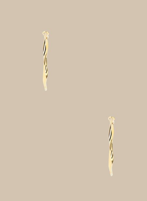 Twisted Hoop Earrrings, Gold