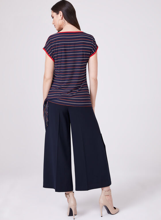 Conrad C - Stripe Print Top, Blue, hi-res