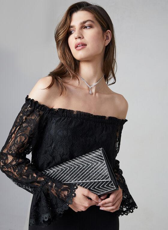 Adrianna Papell - Combinaison à épaules dénudées, Noir, hi-res