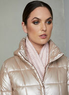 Karl Lagerfeld - Faux Down Quilted Coat, Pink, hi-res