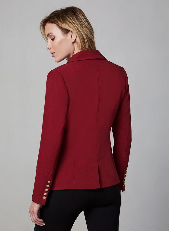 Notch Collar Blazer, Red