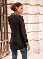 Leopard Print Collar Tunic, Black