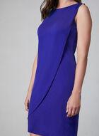 Kensie - Robe fourreau à effet superposé, Bleu, hi-res