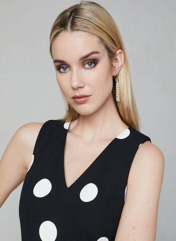 Karl Lagerfeld Paris - Polka Dot Print Jumpsuit, Black, hi-res,  jumpsuit, sleeveless, polka dot, v-neck, spring 2019