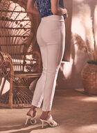 Jacquard Print Slim Leg Pants, White
