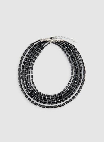 Collier à six rangs de billes, Noir, hi-res,  automne hiver 2019, collier, bijoux, accessoires