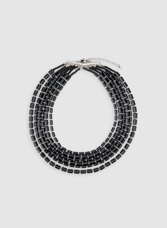 Multistrand Necklace, Black, hi-res