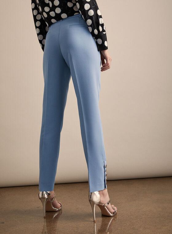 Pantalon Giselle à boutons dorés, Bleu