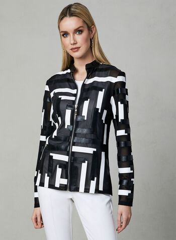 Frank Lyman - Abstract Print Jacket, Black, hi-res