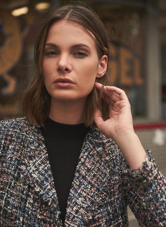 Tweed Moto Jacket, Black