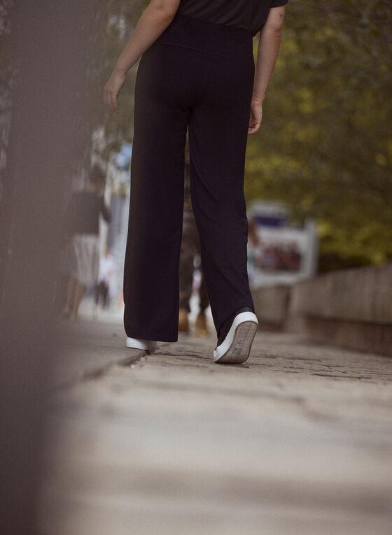 Pull On Wide Leg Pants, Black