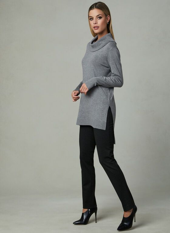 Conrad C - Knit Tunic Top, Grey, hi-res