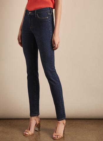 Jeans Olivia à jambe droite, Bleu,  jeans, coupe olivia, jambe droite, denim, poches, coton, printemps été 2020