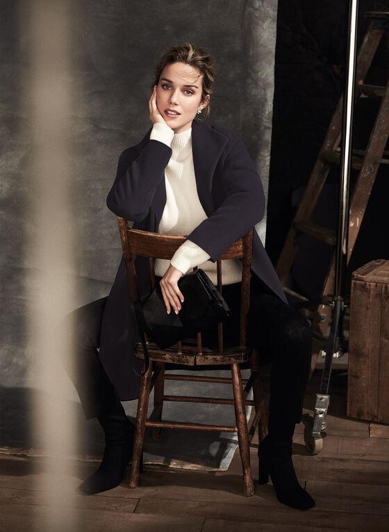 Mallia - Wool & Cashmere Blend Coat, Blue