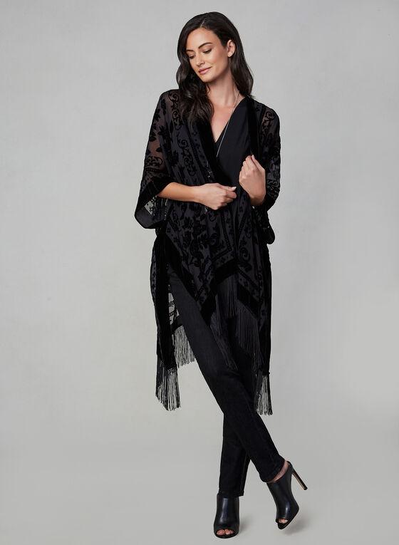 Vince Camuto - Velvet Burnout Kimono, Black