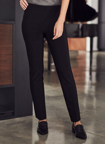 Joseph Ribkoff – Straight Leg Pants, Black,  pants, straight leg, pull-on, pleats, joseph ribkoff, frank lyman, spring summer 2021