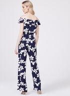 Adrianna Papell - Combinaison florale à jambe large , Bleu, hi-res