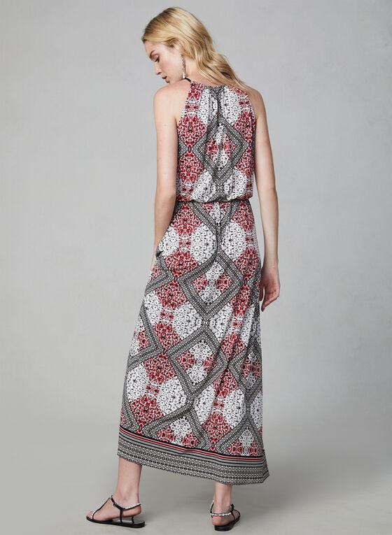 Maggy London - Robe longue à imprimé foulard, Noir