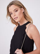 Kensie – Scalloped Trim Halter Top Dress, Black, hi-res