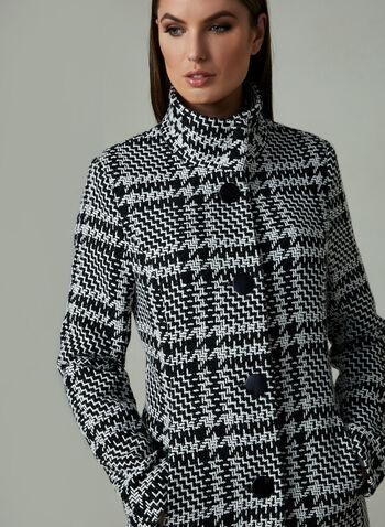 Manteau court en tweed , Noir, hi-res