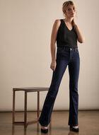 Carla Flare Leg Jeans, Blue