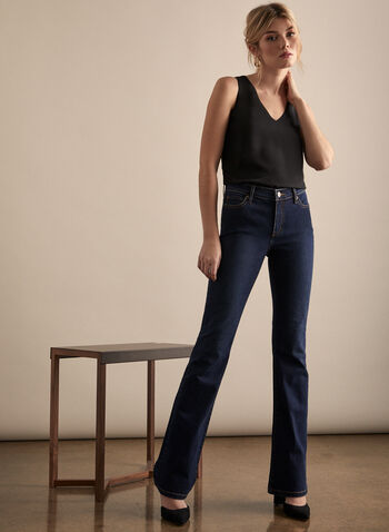 Jeans Carla à jambe évasée, Bleu,  printemps été 2020, jeans, Carla, jambe évasée, denim, poches