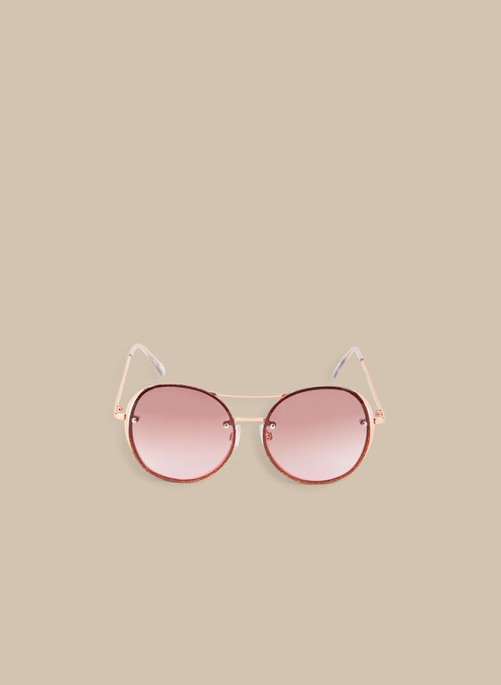 Round Metal Sunglasses, Pink