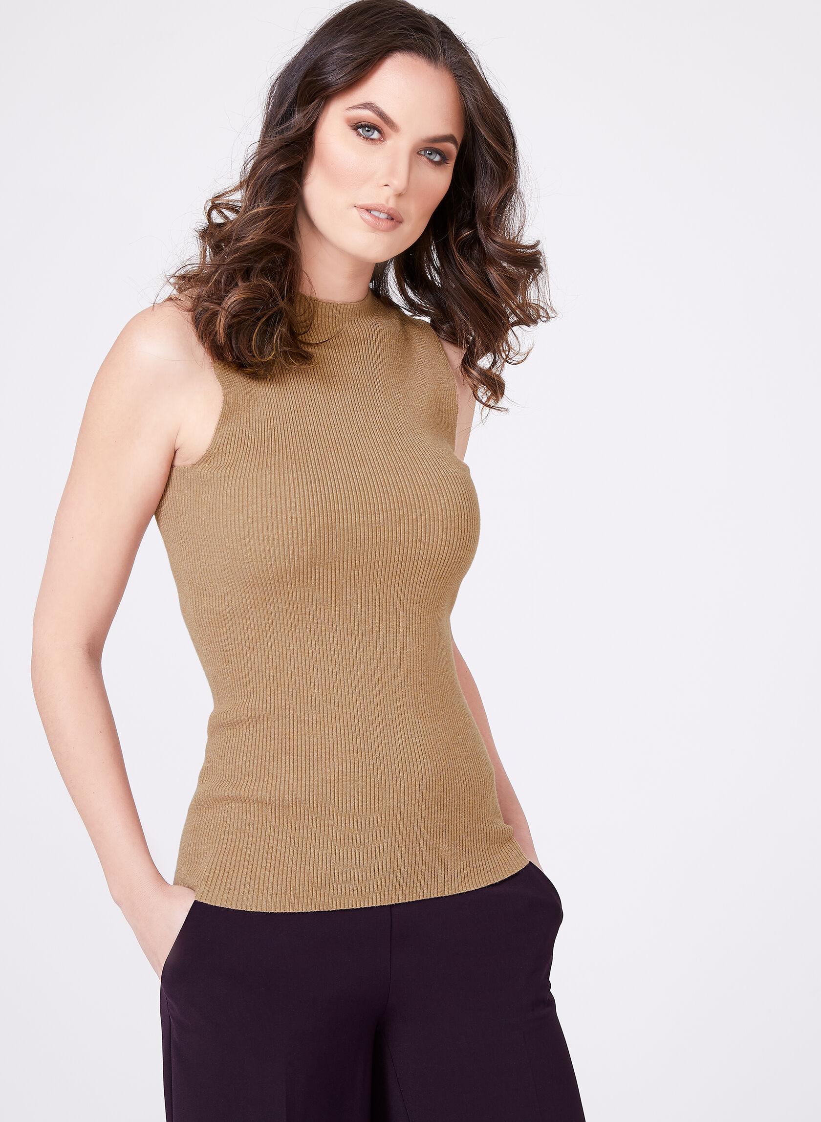 Sleeveless Mock Turtleneck Sweater Melanie Lyne