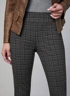 Madison Plaid Print Pants, Grey