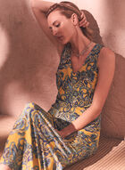 Paisley Print Maxi Dress, Yellow