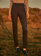 Madison Slim Leg Pull-On Pants, Grey