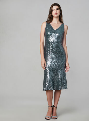 Maggie London – Sequin Mermaid Dress, Green,  glitter cocktail dress, sequnied dress, sleeveless, mermaid cut, fall 2019, winter 2019