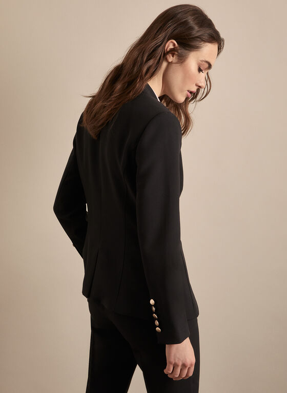 Inverted Notch Collar Jacket, Black