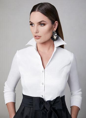 Emma Street - Taffeta Gown, Black, hi-res,  ¾ sleeves, 3/4 sleeves, tulle, spring 2019