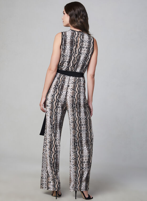 Sandra Darren - Combinaison motif serpent, Brun, hi-res