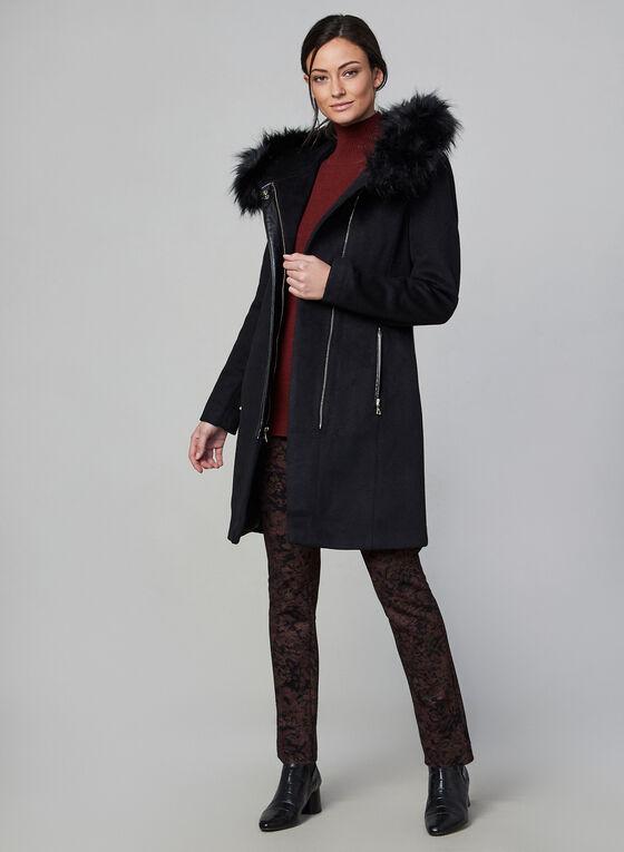 Karl Lagerfeld Paris - Manteau en laine ceinturé, Noir