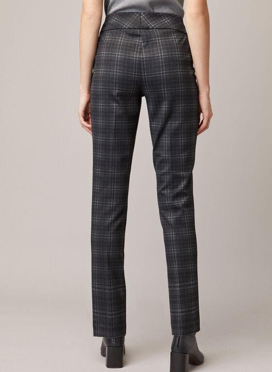 Pantalon Madison à carreaux, Noir